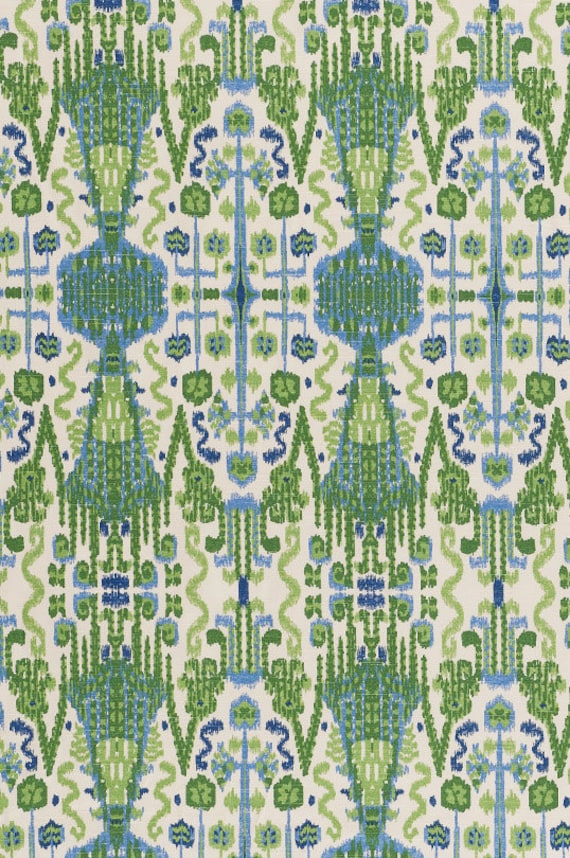 15 Off GreenBlue Ikat Home Decor Fabric Designer by