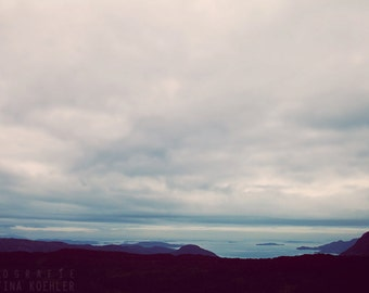 TO THE SEA photography print, Norway landscape photography, 8x12