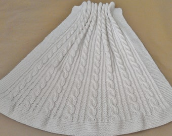 Knitting Pattern: Lovely Cabled Baby Blanket Knitting Pattern