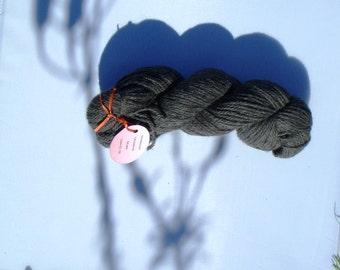 Lovely Gray alpaca yarn in a 2 ply double knit
