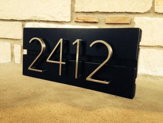 Items similar to mid century modern custom address sign on for Mid century modern address numbers