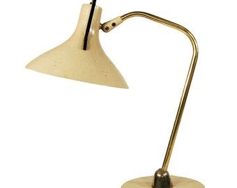 Mid Century Brass & Enameled Steel Anglepoise Desk Lamp
