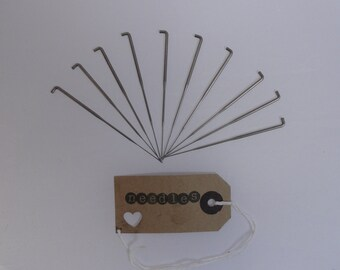 10 x 42 gauge-SINGLE BARB NEEDLES...hair rooting needles for reborns  (1 barb on three sides)