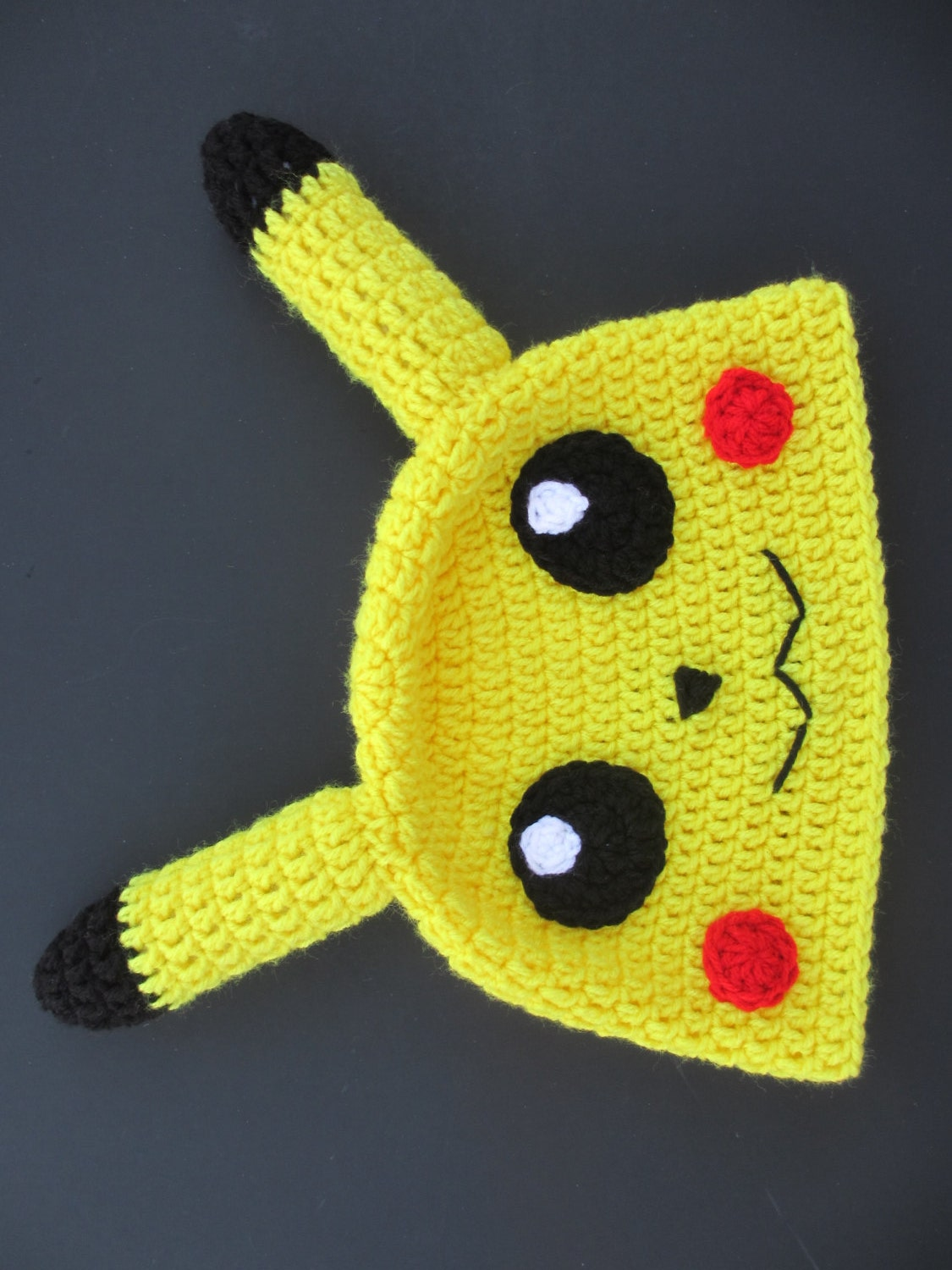 Knitted Pikachu Pattern : Crocheted Pikachu Hat