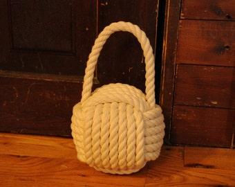 Nautical Cotton Rope Doorstop - Nautical Decor - Cotton Doorstop - Nautical Gifts - Cottage Decor
