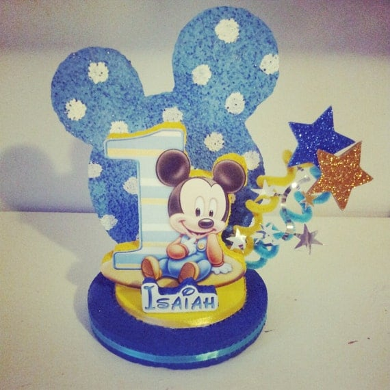 Baby Mickey Birthday Cake Topper Image Inspiration of Cake and