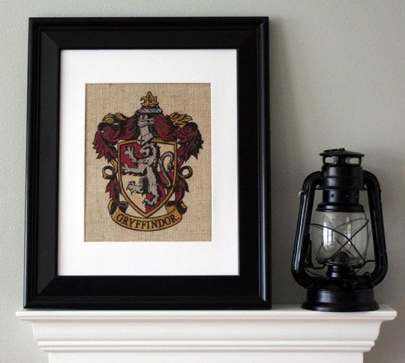 Gryffindor Crest Harry Potter Wall Art By Appalachiancharmva