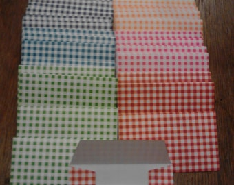 Checkered Gift Card Envelopes, Business Card Envelope Trios, Assorted Colors