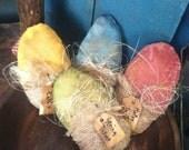 Primitive Easter Egg Spring Ornie Bowlfillers Set of 4