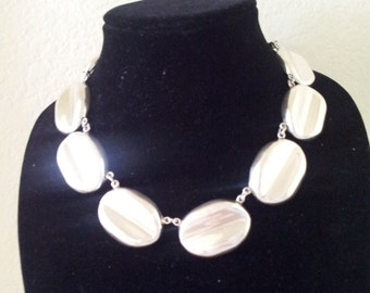 CHOKER Sterling Silver Necklace 1980's