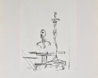 """Vintage Etching """"The Search"""" by Giacometti"""