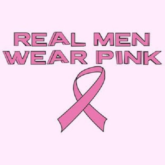Items Similar To Real Men Wear Pink Breast Cancer Ribbon T