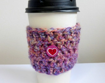 Coffee Cup Cozy Take Out Coffee Cup Sleeve Cozy Hand Crocheted