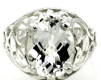 Silver Topaz, Sterling Silver Ring, SR004