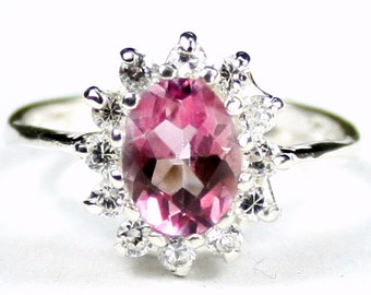Pure Pink Topaz, 925 Sterling Silver Ring, SR235