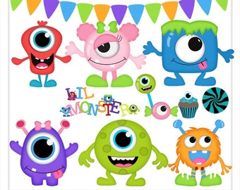 DIGITAL SCRAPBOOKING CLIPART - Monster Mash Party
