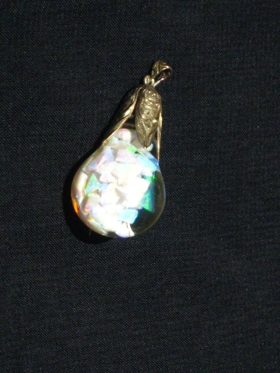 horace welch floating opal pendant 14k gold sted pat