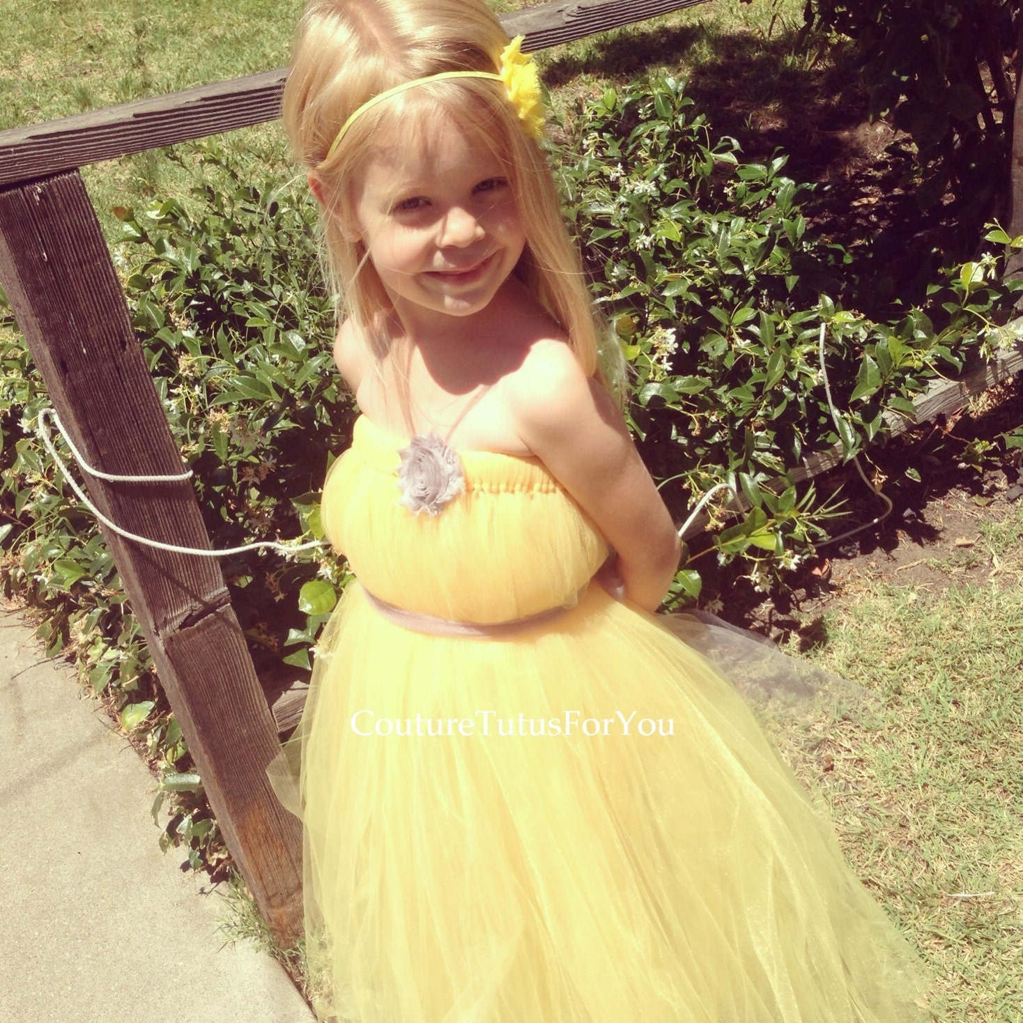 Ready To Ship Sunshine Tulle Dress Yellow Tulle Dress Tulle Tutu