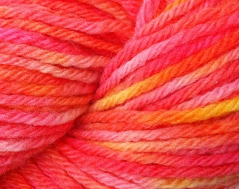 Sunburst -  Bulky Chunky Wool - Red Yellow Orange