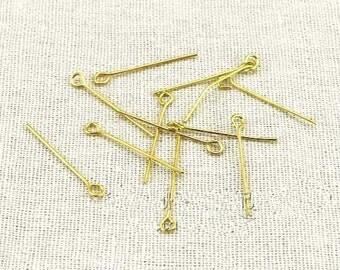 Eye Pins -200pcs gold-plating Jewelry Making Eye Pin Findings 35mm