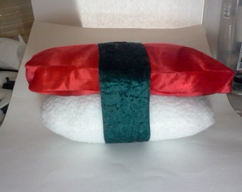 "Sushi Pillow Plush Tuna on Rice Maguro Chutoro Nigiri 14"" x 8"" x 7"""