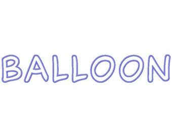 Balloon Machine Applique Embroidery Fonts  1620