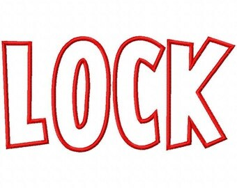 Lock Machine Applique Embroidery Fonts  1923
