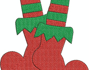 Elf Shoes Flill and Applique Machine Embroidery