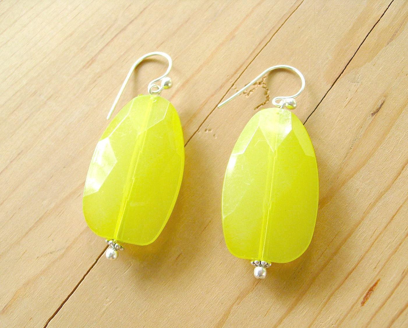 neon yellow earrings neon lime drop earrings