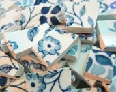 Mosaic China  Plate Tiles Blue & White Floral Patterened Set of 110 plus Pique Assiette - PamelasPlatePieces