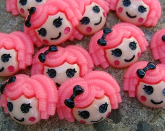 2 Lalaloopsy Resins Pink Lalaloopsy hair Bow Resins