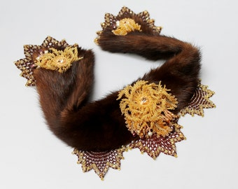 "Fur collar ""in the Empire of the tsars"""