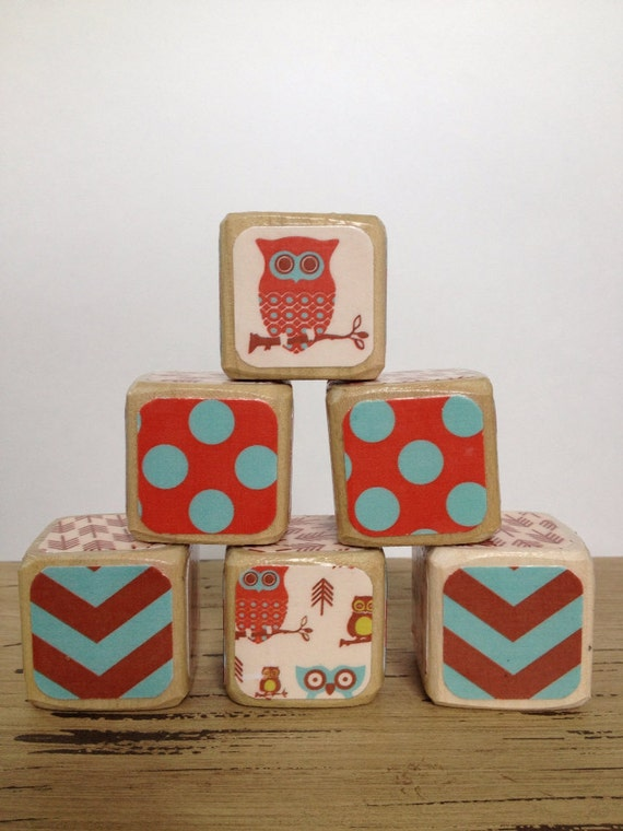 Woodsy Owl // Childrens Blocks // Natural Wood Toy