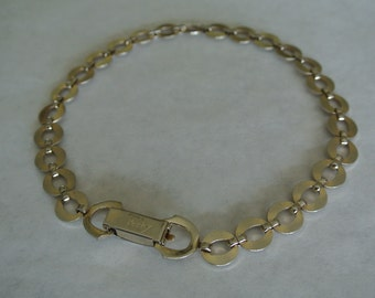 Vintage 1970s Chain Link Necklace Chocker by Sperry's Perky Modes