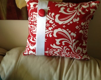 Red Damask Pillows