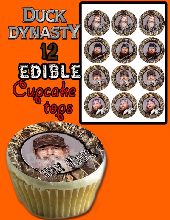 Items similar to Personalized Duck Dynasty edible cupcake ...