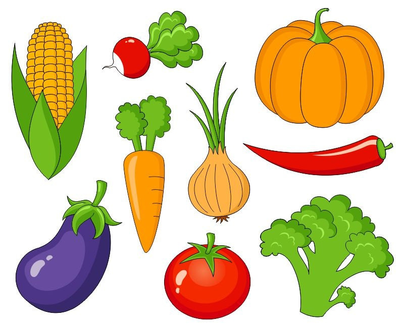 Vegetables Clip Art Cute Veggies Digital Clipart Corn