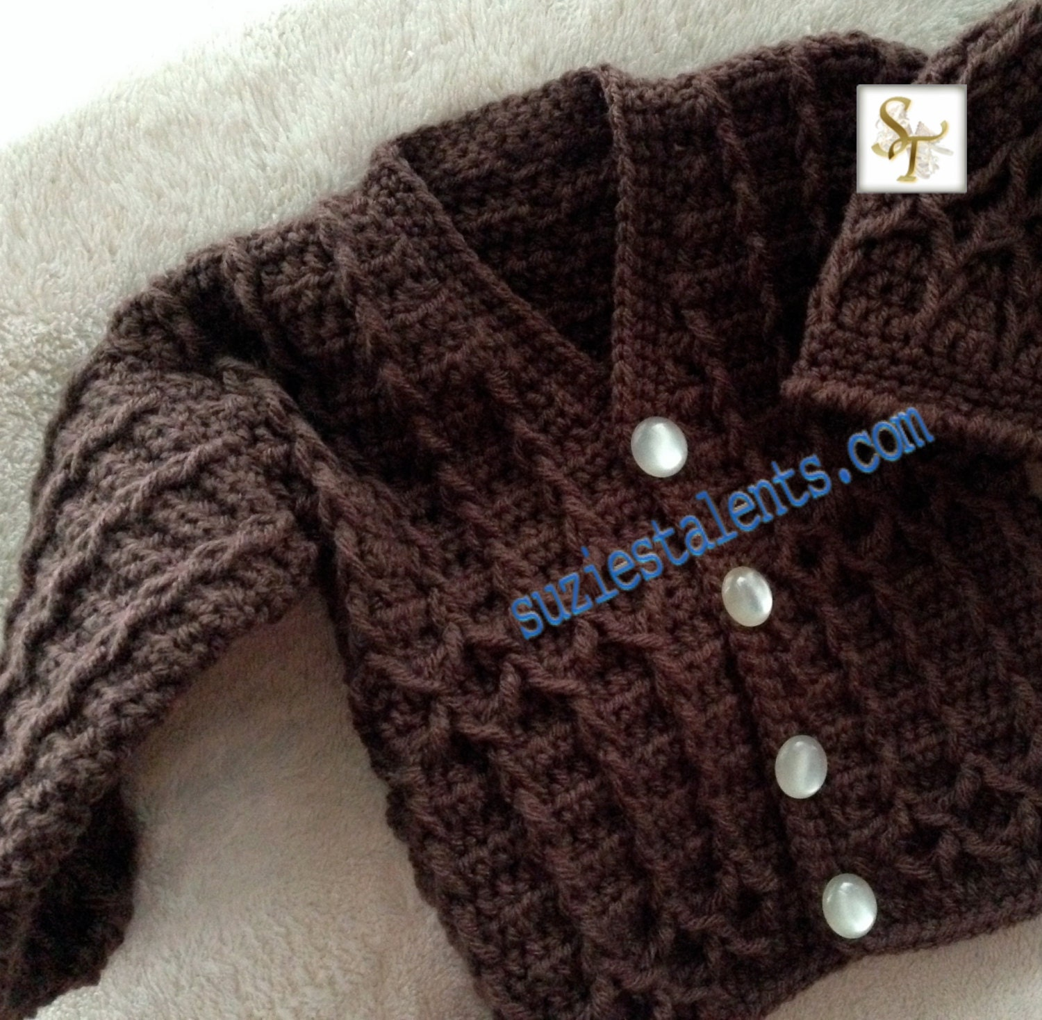 Sale pattern pt051 baby warm jacket crochet baby jacket zoom bankloansurffo Image collections