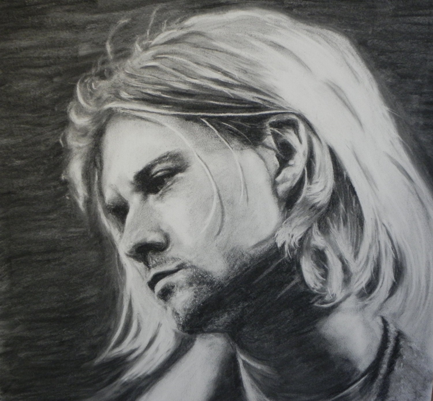 It is a picture of Ridiculous Drawing Of Kurt Cobain