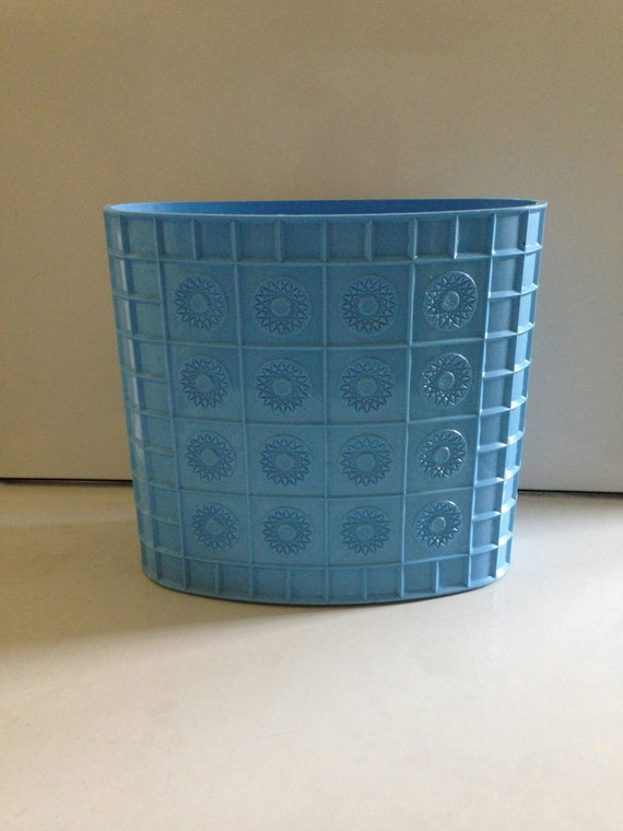 Blue Vintage Trash Can on Etsy at Two Twins Vintage