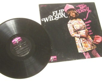 70's Vinyl Record Album STEREO Flip Wilson-The Devil Made Me Buy This Dress
