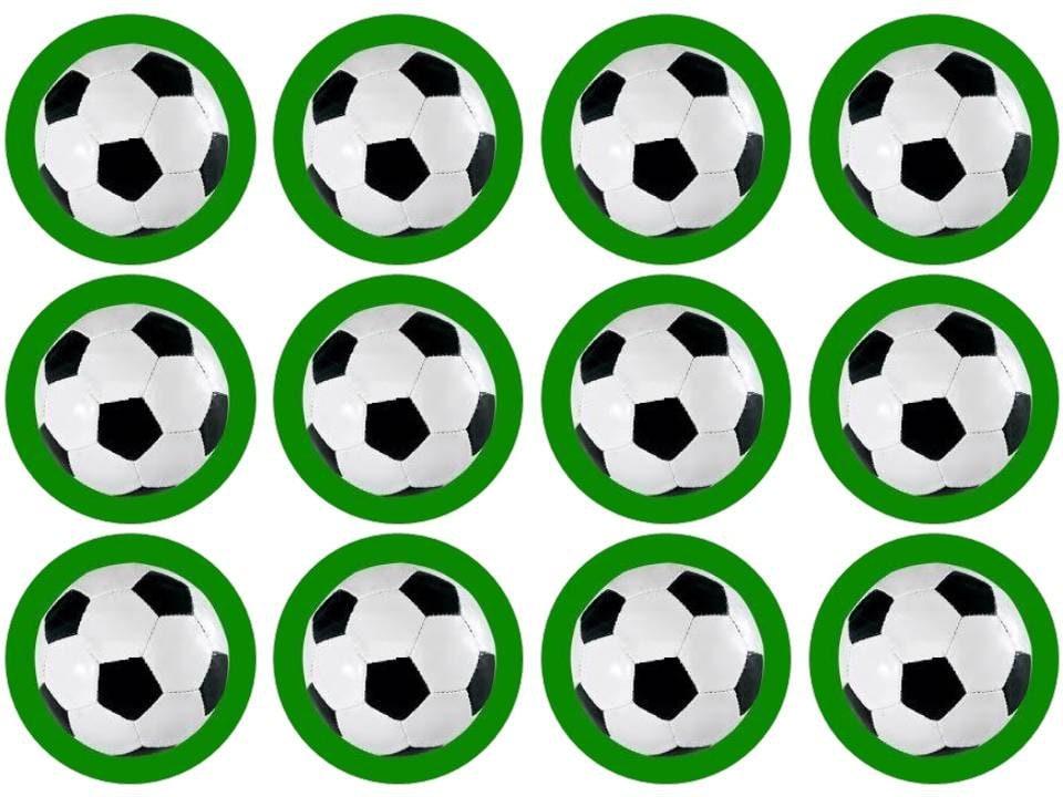15 Football Soccer Cupcake Toppers Edible