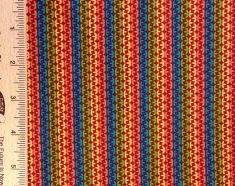 Carla Miller fabric CM33 Redd blue yellow Star Flowers Stripes sewing quilting fabric 100% cotton fabric By the yard