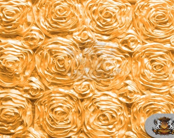 """Rosette Satin Fabric GOLD / 54"""" Wide / Sold by the yard"""