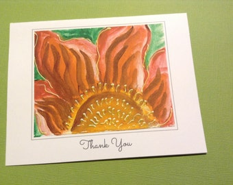 Thank You Cards Sunflower Prints of Original Artwork - Pack of 12 Cards