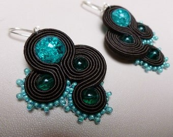 Romancing the Stone - soutache earrings