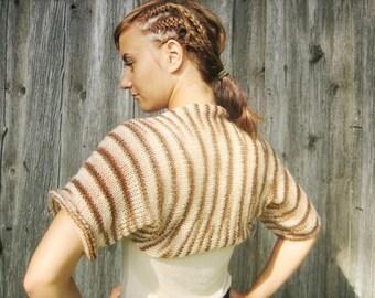 women bolero women shrug Shrugs Boleros Bolero Knitted Brown Multicolor