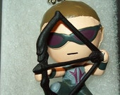 Hawkeye Grab Zag action figure necklace