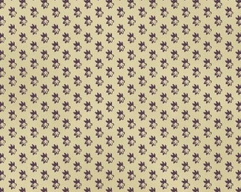 SUPER CLEARANCE! One Yard Rebecca - Mini Leaf in Purple Cotton Quilt Fabric - by Mary Koval  - Windham Fabrics (W318)