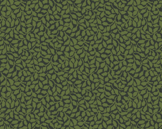 SUPER CLEARANCE!  One Yard My True Love Gave to Me - Tender Holly in Dark Green Cotton Quilt Fabric - Benartex Fabrics (W393)